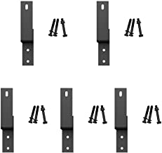 5 Pack Sliding Bypass Door Hardware Wall Bracket and Track Spacer, Black