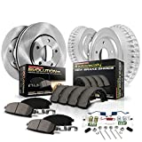 Power Stop KOE15061DK Autospecialty Front and Rear Replacement Brake Kit-OE Brake Drums & Ceramic Brake Pads