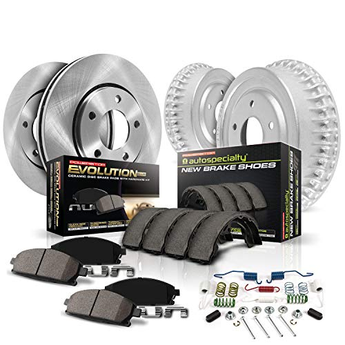 Power Stop KOE15263DK Daily Driver Pad, Rotor, Drum and Shoe Kit (Front and Rear)