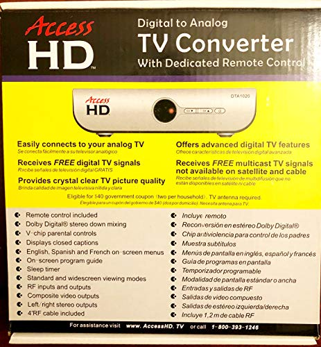Buy Discount Access HD DTA 1020D Digital to Analog TV Converter Box