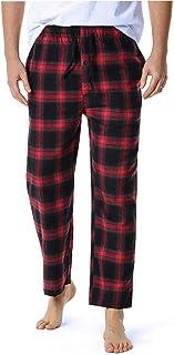 Men's Loose Sleep Bottoms Plaid Flannel Pants Bottoms Casual Pants Sleepwear Underwear M