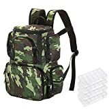 Lixada Fishing Tackle Bag Fishing Backpack Fishing Lures Bait Box Storage Bag with 4 Fishing Tackle Boxes