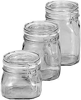 Bormioli Rocco Set Filo di vetro Staffa Fido 125/ML vasetti in vetro con chiusura ad arco con un libro di ricette