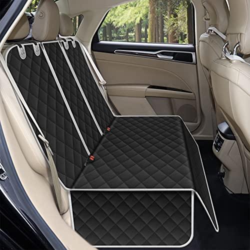 Alfheim - Coprisedili per auto, impermeabili e antiscivolo, antigraffio, resistenti, lavabili, universali per auto, camion, SUV (nero)