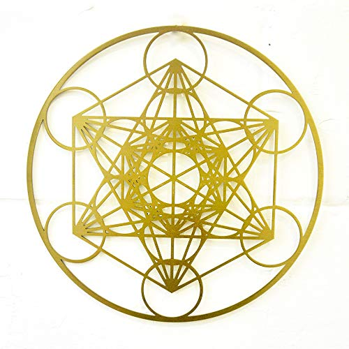 CANDIKO Metatrons Cube Stainless Steel Metal Wall Art Décor Sacred...