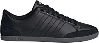 Adidas Caflaire Side-Stripe Back-Logo Lace-Up Tennis Sneakers for Men - Core Black and Grey Five, 46 2/3 EU