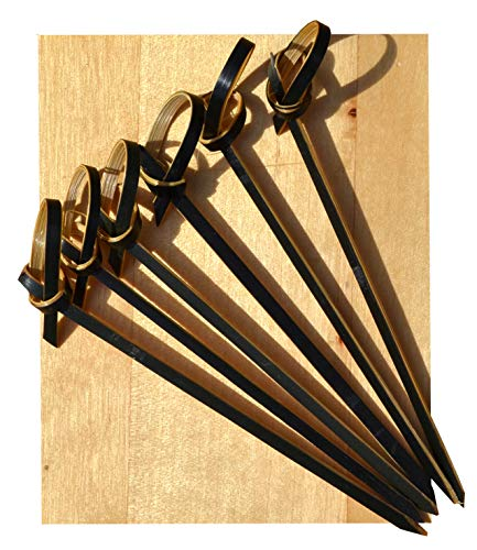 Cocktail sticks Black & Tan bamboo sword Japanese style 8cm X 500