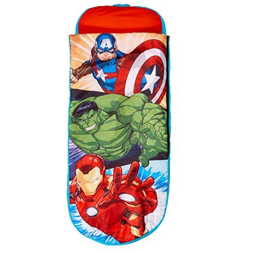 Avengers Junior-ReadyBed – Kinder-Schlafsack und Luftbett in einem, Polyester, Red, 150 x 62 x 20 cm