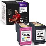 LEMEROUtrust 303XL Reacondicionado Cartuchos de Tinta Compatible para HP 303 XL para HP Envy Photo 6220 6230 6232 7120 7130 7132 7820 7830 7832 AIO Impresora (Negro/Color)