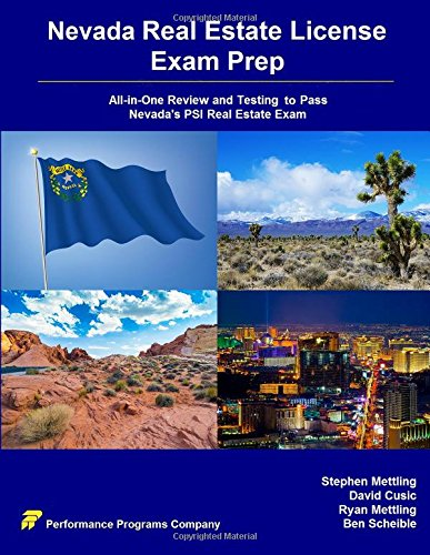 Nevada Real Estate License Exam Prep: All-in-One Review and Testing To Pass Nevada's PSI Real Estate Exam