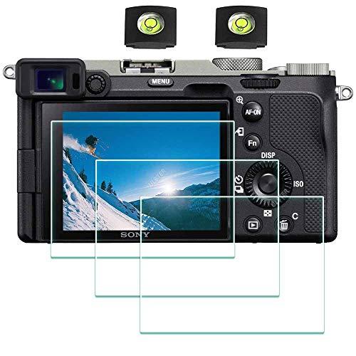 A7C Protector de Pantalla para Cámara Sony Alpha A7C A7S III y Réflex Digitales,ULBTER 0,3 mm Dureza 9H Vidrio Templado –[2+ 3 Unidades]