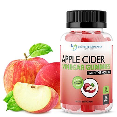 Apple Cider Vinegar Gummy Vitamins - 60 Day Supply of Apple Cider Vinegar Gummies with The Mother, B9, B12, Gluten-Free, Vegan, Non-GMO ACV for Immunity & Boost Energy, Delicious Apple Flavor