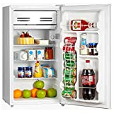 Smad Mini Fridge with Freezer 3.2 Cu.Ft Compact Refrigerator for Dorm Office Bedroom, Low Noise, Reversible Door, White