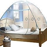YOUJIA Bewegliches Faltendes Mückenschutznetz Insektenschutz Moskitonetz Blau 150 * 200 * 145CM