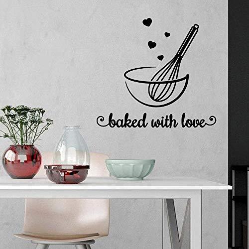 Amerikanische Bäckerei verzieren Aufkleber mit dem Wort Liebe, wasserdichtes Wandgemälde Wandkunst Aufkleber Backraum A1 57x62cm zu backen