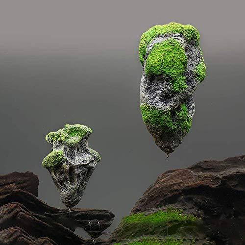 Vektenxi Künstliche schwimmenden Stein Aquarium Landschaftsbau Ornament Aquarium Zubehör kreativ und nützlich