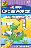 School Zone - My First Crosswords Workbook - Ages 6 to 8, 1st to 2nd Grade, Activity Pad, Word Puzzles, Word Search, Vocabulary, Spelling, and More (School Zone Little Busy Book Series)