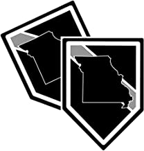 Brotherhood Thin Grey Line Car Window Decal - Pack of Four Correctional Officer Support Decals and Pack of Four Thin Grey Line American Flag Decals for Missouri State