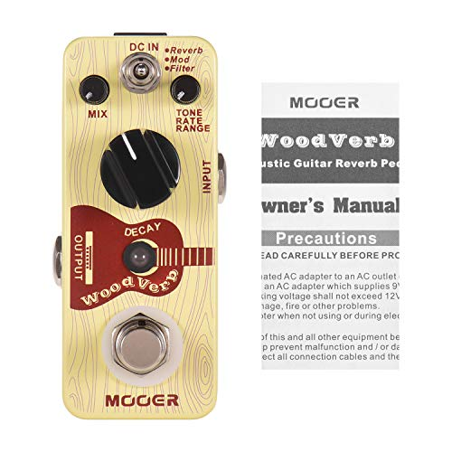 Muslady Mooer Pedal de Digital para Guitarra Acustica Modos de Reverberación/Mod/Filtro True Bypass Serie Micro Pedal Compacto