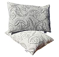 Cover: Satin, Filling: Recron Reliance Fiber, Quantity: 2 Pillow, Size: 16 x 24 Inches VACUUM COMPRESSED: Pillows come as Vacuum pressed for easier handling. Open the plastic wrap and fluff to expand the pillows completely NO-SHIFT CONSTRUCTION – Wit...
