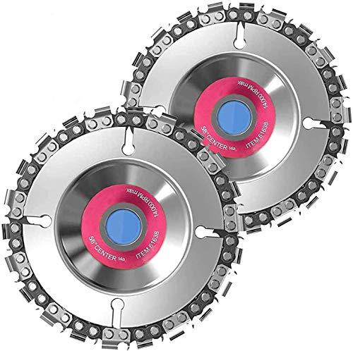 Disco de Cadena, 4.5 Pulgadas 100/115 mm 13T Disco de Cadena de Amoladora Angular de Carburo, Disco de Cadena para Amoladora, Accesorio Profesional para Carpintería