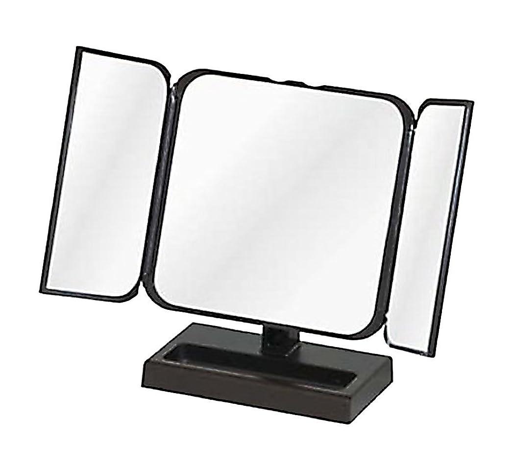 旅ブラウスオーバーランメリー プチ三面鏡 ブラック No.CH-8720