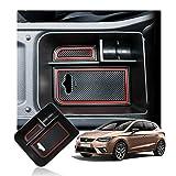 LFOTPP Seat Arona Apoyabrazos Consola Central Bandeja, Caja de Almacenamiento Organizador coche Interior Accesorios