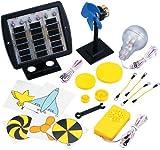Elenco Deluxe Solar Educational Kit | 3 X 1.5 Volt Solar Cells | 5 Volt DC Motor | Experiment with Solar Power | Study Alternative Energy