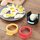 3 in 1 Egg Slicer for Hard Boiled Eggs, Dishwasher Safe Egg Cutter-Durable Stainless Steel Wires, Easy to Clean, Time-Saving, Kitchen Egg Tools Kitchen Accessories