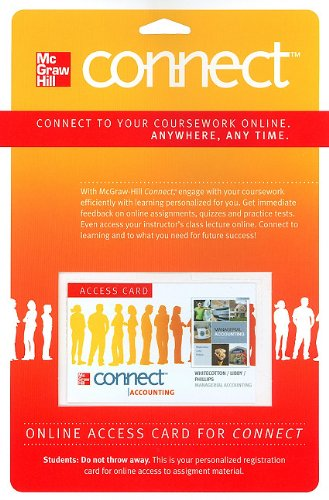 Connect Accounting Pass Card to accompany Managerial Accounting (McGraw Hill Connect (Access Codes))