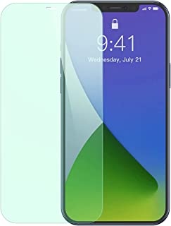 Baseus 0.3mm Eye Protection Full Coverage Tempered Glass Film (Green Light) For iP 12/12 Pro 6.1inch 2020(2pcs Pack) Trans...
