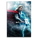 yiyitop Thor Poster Film Leinwand Malerei Home Room Cafe Bar Dekor Mjolnir Wandkunst Drucke 50x70cm...