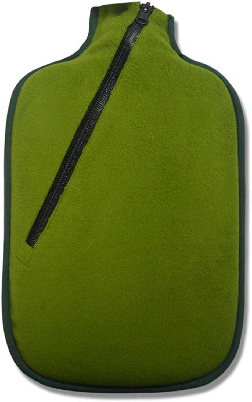 TD Groe 2L Flanell-Wasser-Einspritzungs-Warmwasser-Flaschen-Warmer Palast-Handwrmer-Umweltschutz-geruchloses gesundes Material (Farbe   Grün)