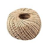 50m cuerda de yute natural hilo de arpillera Sisal...