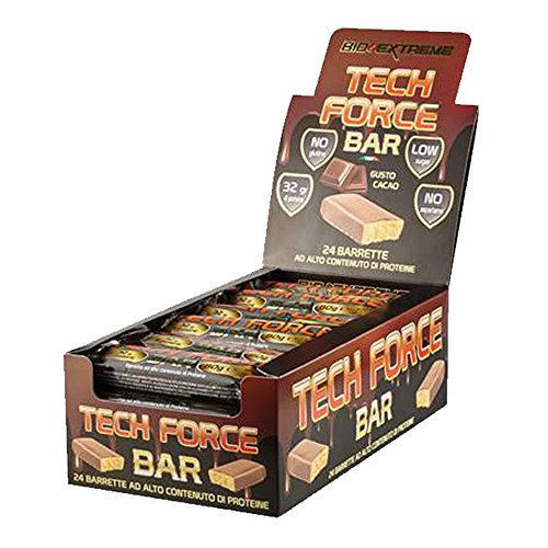 TECH FORCE BAR [barrette proteiche da 80gr] - 32g di proteine x barretta (COCCO, 24 barrette)