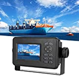 Focket Marine GPS Navigator, HP-528A 4.3 Pulgadas LCD en Color Clase B Transpondedor AIS Combo Navigator Localizador de Navegación GPS, Almacena 10000 Waypoints, 100 Rutas para Barcos,Yate etc