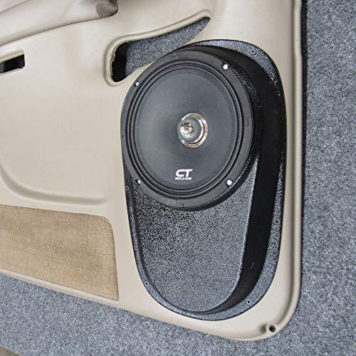 "Custom Speaker Pods 8"" Rear Door Compatible with 2000-2006 Chevrolet Tahoe, Suburban, Silverado, Sierra, Yukon Stereo System Upgrade Installation"