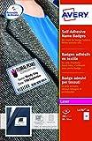 Avery L4787-20 Badge Adesivi con Cornice Blu, Stampanti Laser20 Fogli, 80 x 50, Bianco...