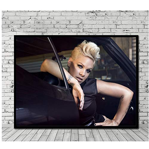 Print on Canva Poster Prints Moore New Pink Music Singer Star Art Canvas Wall Painting Picture For Room Home Decor 50 x 70 cm Unframed