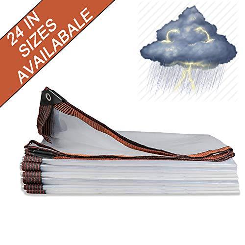 NaDrn Lona Impermeable de Polietileno, Espesar Universal Protección Impermeable con para protección Exterior, Resistente al Agua y a los Rayos UV,16x16ft/5x5m