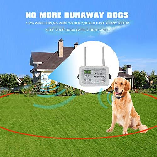 JUSTPET Wireless Dog Fence Pet Containment System, Safe No Randomly Correction Dog Wireless Fence,...