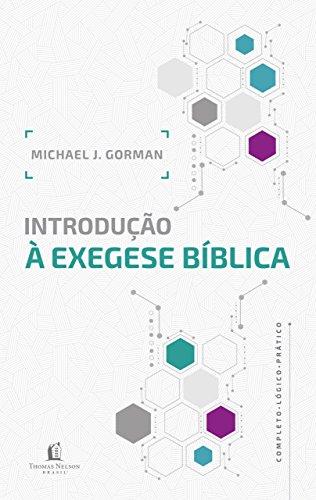Introdução à exegese bíblica.