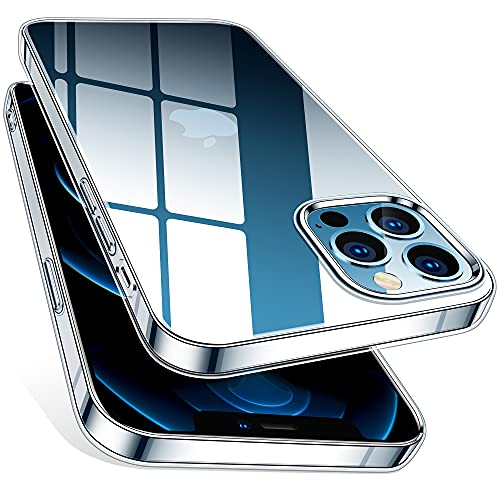 HOOMIL iPhone 12 Hülle, Handyhülle für iPhone 12 Hülle Durchsichtig Dünn Silikon Case Weiche TPU Transparent Schutzhülle für iPhone 12 / iPhone 12 Pro Hülle - Clear