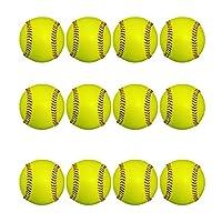 日本ボール (ニッポン)野球 硬式ボール 練習球 【国産】コードレ 全天候型ボール (蛍光色) (蛍光球12個入り)