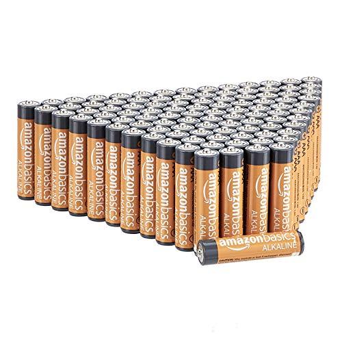 AmazonBasics AAA-Alkalibatterien, leistungsstark, 1,5V, 100 Stück (Aussehen kann variieren)