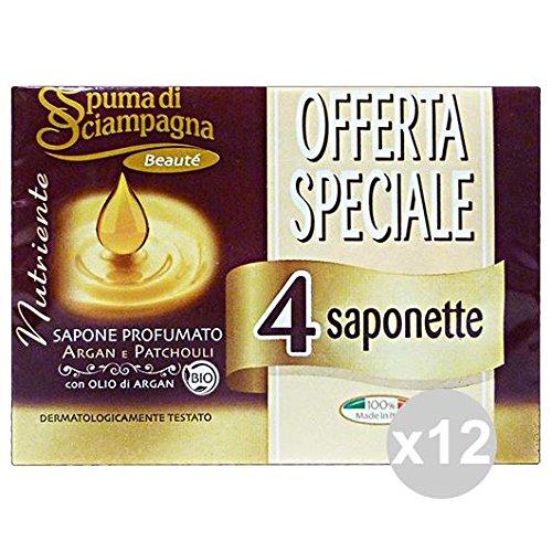 Set 12 soft-siampagna-zeepbakjes argan-patchouli * 4 stuks zeep en cosmetica