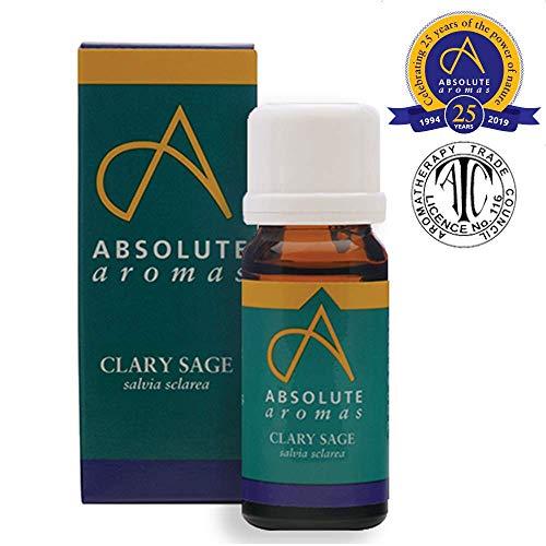 Absolute Aromas Aceite Esencial Salvia Sclarea 10ml - 100% puro, natural, sin diluyentes y libre de crueldad anima