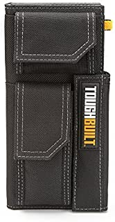 ToughBuilt - Organizer + Grid Notebook (Medium) -Heavy-Duty Construction With Pocket Reinforcement, Business Card Slots, Hand Strap, 2 External Accessory Pockets, Notebook Included (TB-56-M-C) NEW