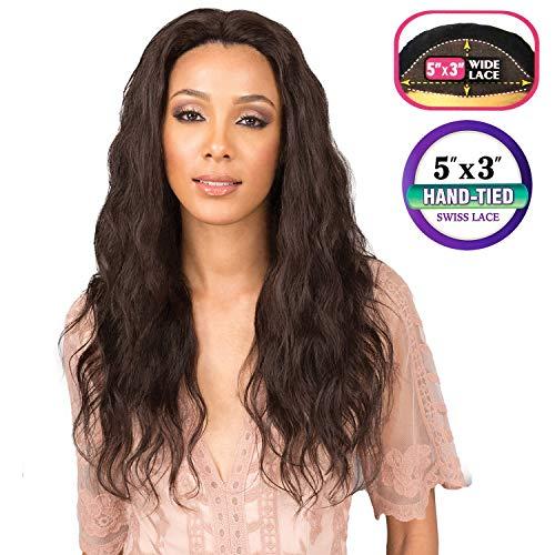 Bobbi Boss Human Hair 5x3 Swiss Lace Front Wig [MELANIA] - NATURAL