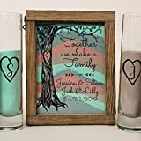 Wedding Candles - Candle Holders - Sand Ceremony Set for Blended Family, Rustic Wedding Shadow Box Sand Ceremony Set, Unity Candle Alternative, Beach or Outdoor Wedding Decor
